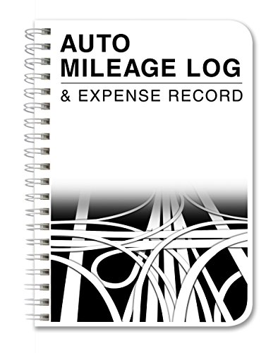 "BookFactory Mileage Log Book/Auto Mileage Expense Record Notebook For Taxes   126 Pages   5"" X 7"" Wire O (LOG 126 57CW A(Mileage))"