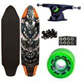 Woodstock Chieftain 38' Longboard Complete with Landyachtz Bear Black Trucks Abec 9 Bearings Ripsaw Wheels