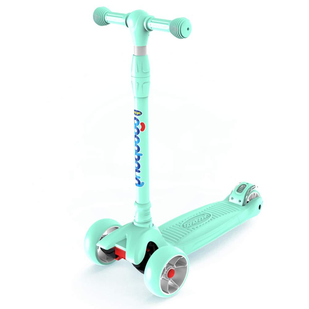 キックスクーター 高さ調整可能,4 ホイール スクーター,幅広のデッキ 安定した性能と 子供用 3 12 年オールド ブラック J