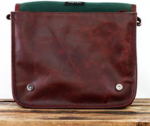 brun PAUL A4 M d'automne style MARIUS MESSAGER couleur LE en vintage sac cuir bandoulière H7xtzn5w