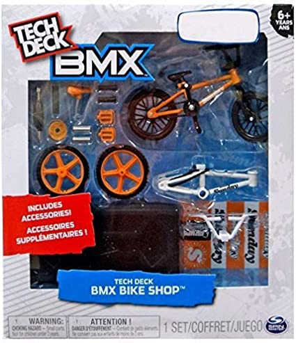 Amazon Com Tech Deck Bmx Bike Shop With Accessories And Storage Container Design Your Way Bike Toy Cult Bikes Design Orange And Black For Ages 6 And Up Toys Games
