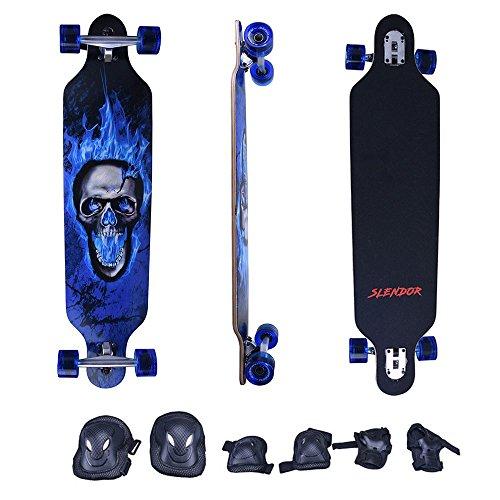 Slendor 41 Inch Maple Drop Through Longboard Complete Skateboard