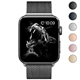 BRG for Apple Watch Band, Stainless Steel Mesh Milanese Loop with Adjustable Magnetic Closure Replacement iWatch Band for Apple Watch Series 3 Series 2 Series 1, 42mm Space Gray