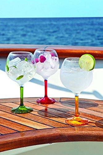 Marine-Business-Party-Copas-de-cctel-policarbonato-transparentes-con-base-de-colores