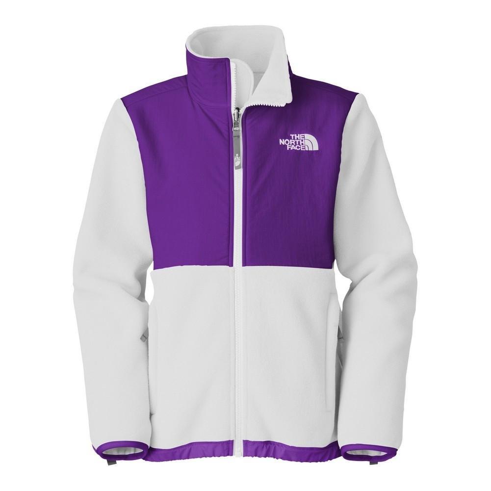 The North Face Girls' Denali Jacket R TNF White / Pixie Purple XXS AQGGE6B