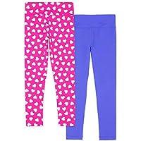 Lucky & Me Madisyn Girls Athletic Leggings, 2-Pack, Tagless, Full Length, Gymnastics & Dancewear, Wide Waistband