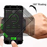 VUP Cell Phone Holder Wristband for iPhone X 7/7 Plus 8/8Plus 6/6S Plus, Galaxy S8/S9 S7 Edge Note 8, Nexus 6P 180° Rotatable Universal for 4.0''-5.8'' Mobile Phone Hiking Walking Running Armband