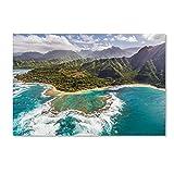 Trademark Fine Art Kauai's Tunnels Beach by Pierre Leclerc, 22x32-Inch Canvas Wall Art