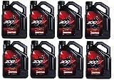 Motul 104129 Set of 8 300V Road Racing 15W-50 Motor Oil 1-Gallon Bottles
