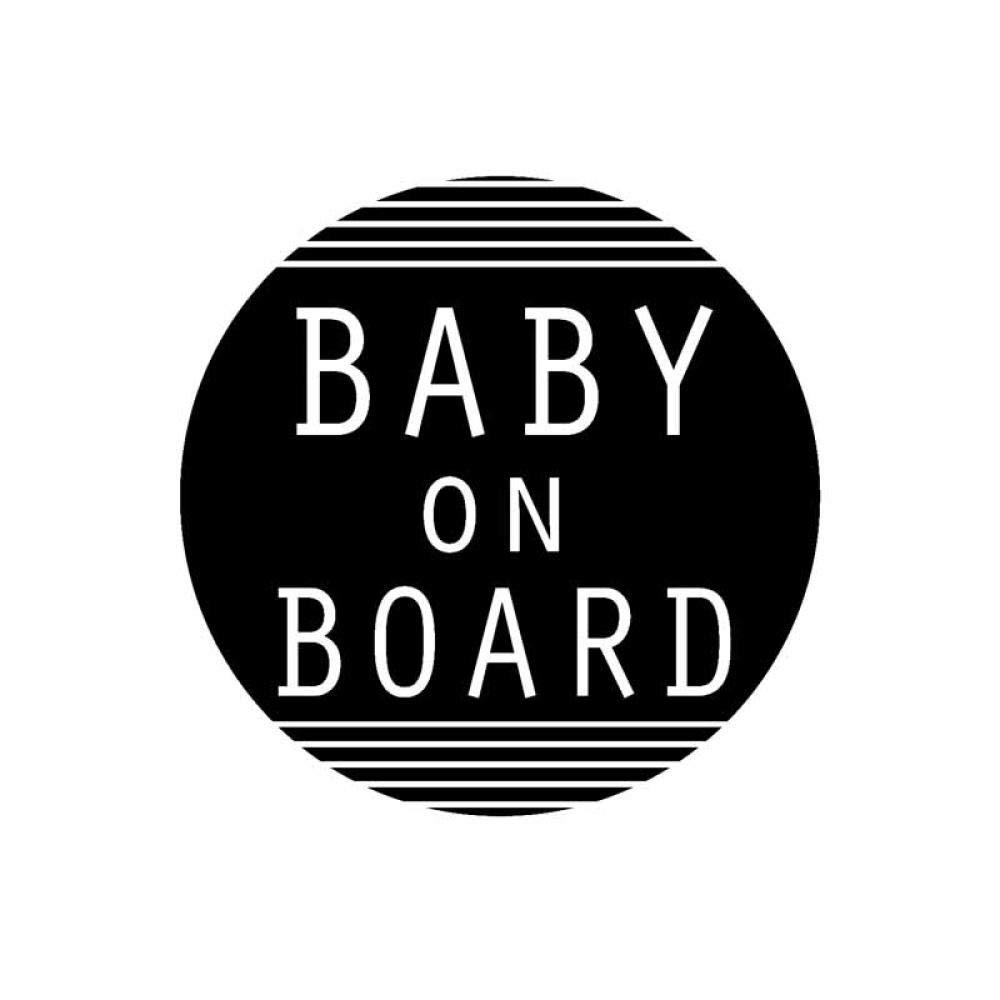 Auto Aufkleber Baby On Board Aufkleber Applique Funny Vinyl Car Black//Silver-Schwarz