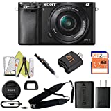 Sony Alpha a6000 Mirrorless Digitial Camera 24.3MP SLR Camera with 3.0-Inch LCD (Black) (16-50mm, Starter Kit)