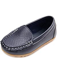 60d9a6911c6 Boy s Girl s Casual Leather Slip-on Loafers Oxford Flat Boat Shoes Toddler  Shoes