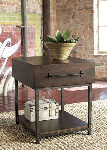 Ashley Furniture Signature Design - Starmore Rectangular End Table - Rustic Contemporary Side Table - Brown (Brown Rectangular End Table)
