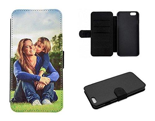 Flipcase für Apple iPhone 7 Plus * eigenes Foto * Hülle Cover Case Etui Logo