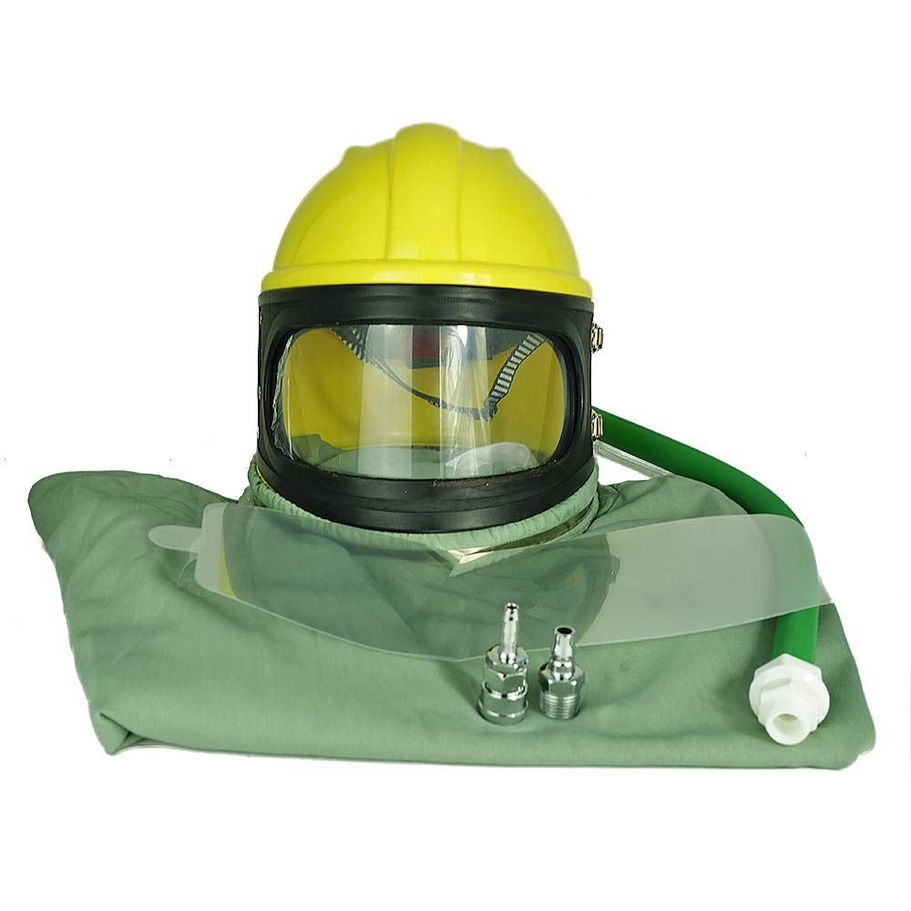 XuSha Air Fed Safety Sandblast Helmet Protector Sandblasting Shield for Sandblasting by XuSha