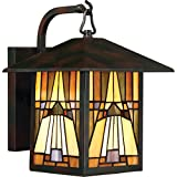 Quoizel One Light Outdoor Wall Lantern TFIK8409VA, Medium, Valiant Bronze