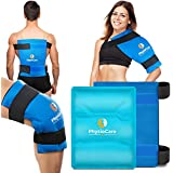 """PhysioCare Large Flexible Gel Ice Pack & Wrap - Hot & Cold Therapy for Hip, Shoulder, Elbow, Back, Knee - Instant Pain Relief for Injuries, Recovery, Swelling, Aches, Bruises & Sprains - XL 11"""" x 14"""""""