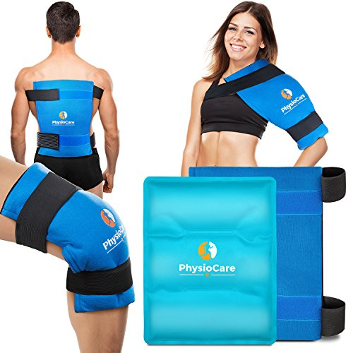 PhysioCare Large Flexible Gel Ice Pack & Wrap - Hot & Cold Therapy for Hip, Shoulder, Elbow, Back, Knee - Instant Pain Relief for Injuries, Recovery, Swelling, Aches, Bruises & Sprains - XL 11