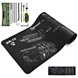 Twod AR-15 Gun Cleaning Mat Large & Cleaning Kit/Cleaning Supplies with Accessories and Tools Pouch for Rifle|AR15|AR 15|M16