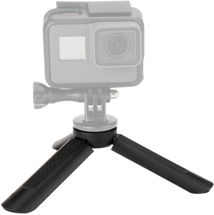 Portable Camera Phone Tripod Base Stabilizer with1//4 Inch Screw,Rubber Pad,Anti-Slip Wear-Resistance Tripod for GoPr o Vbestlife Mini Folding Smart Phone Action Camera Handle Tripod