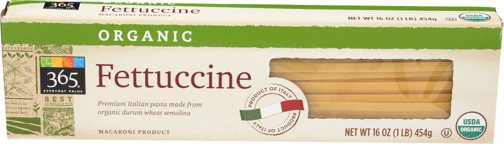 365 Everyday Value, Organic Fettuccine, 16 oz