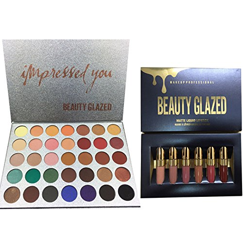 BEAUTY GLAZED 35 Colors matte Eyeshadow Palette Glitter Shim