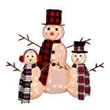 Northlight Set of 3 Lighted Tinsel Snowman Family Christmas Outdoor Decorations 35''
