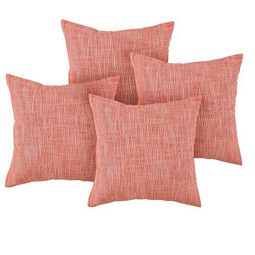 Deconovo Stripe Woven Cushion Covers Cotton Linen Pillow Shams Throw Pillow Cases Toss Pillows ...