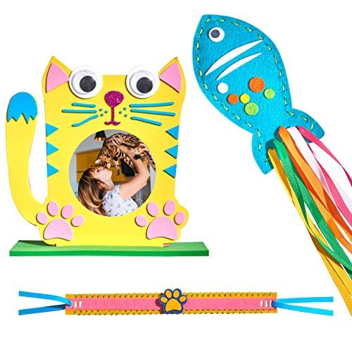 - The Perfect Cat Toy Assortment   The Cutest gift for Cat Lovers   Make your own beautiful Cat Collar   Make your own colorful Cat Nip Toy   Cherish a memory with the Cat Photo Frame (3-in-1)