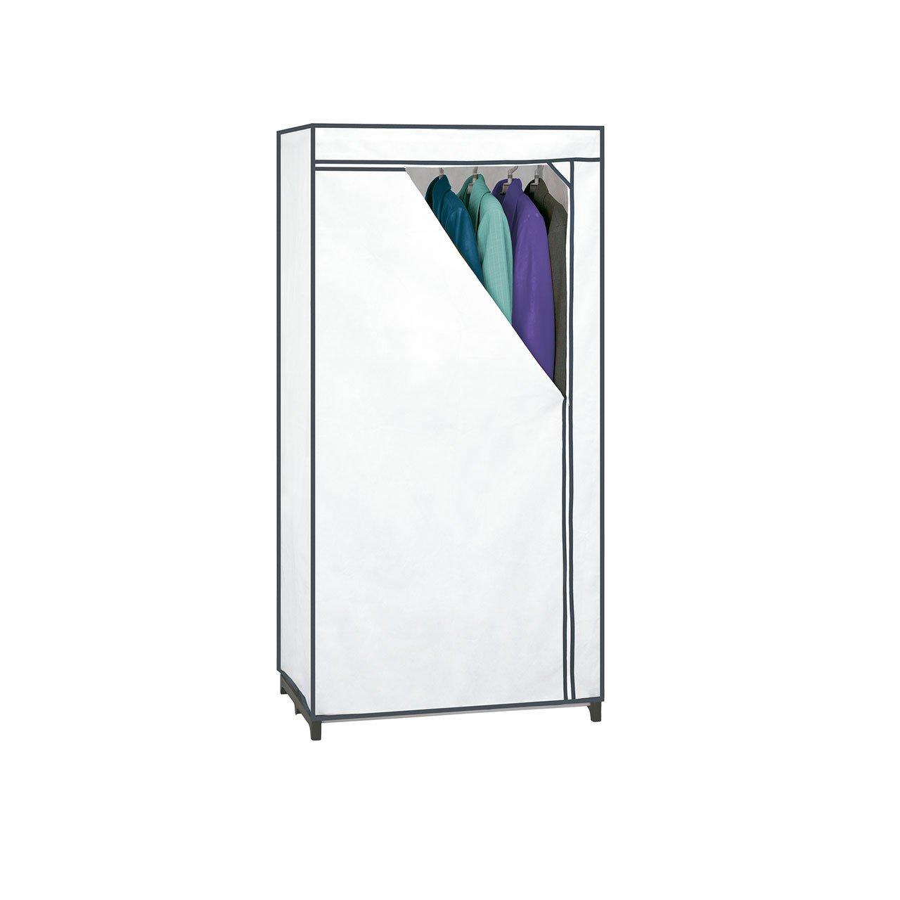 Rayen 2054 Armadio di Tessuto, Materiali di qualità, Bianco, Plastica, Bianco, 155 x 77 x 52 cm organizzazione; interni