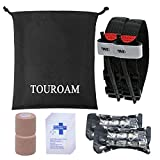 Trauma Medical First Aid Kit-TOUROAM Tactical IFAK Molle Survival Bag Military Combat Tourniquet,Israeli Bandage,Mylar Blanket Emergency Pouch SOS Tool Kit for Kayak Camping Sports