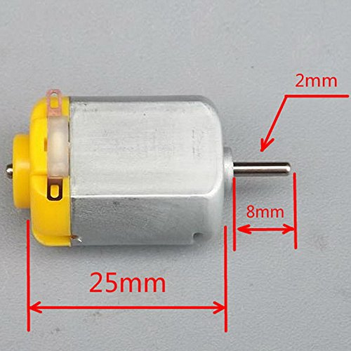 Dc Motor - 1 Pc 130 Dc Motor Micro Wheel Small Drive Robotic Scientific Experiments - Gearbox Adapter Bracket Encoder Body Ceiling Threaded Actuator Drive Electricity Treadmill Tattoo Revers (Best Treadmill Motor For Wind Generator)