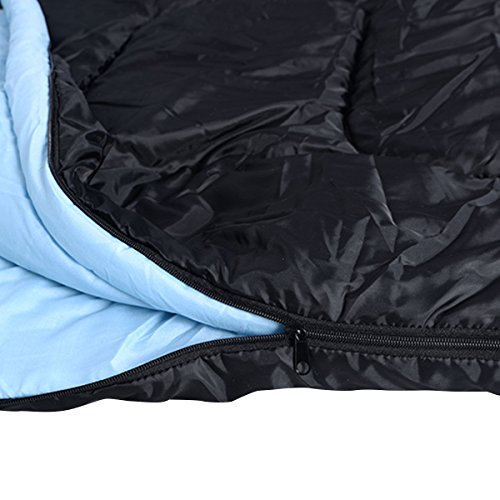2-Person-86-x-60-W-2-Pillows-Large-Double-Sleeping-Bag-23F-5-Camping-Hiking