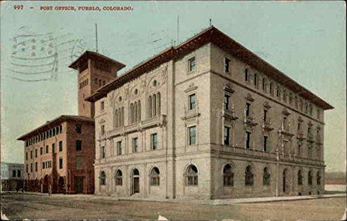 Post Office Pueblo, Colorado Original Vintage Postcard