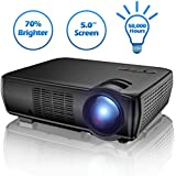 Projector, TENKER Video Projector Upgrade Lumens +33% Brighter for 5.0 Big Screen Home Theater Projector with 176 Display Support 1080p HDMI VGA USB AV for Outdoor & Indoor Movie Nights, Video Games