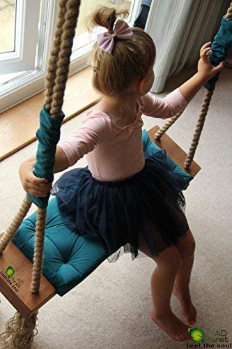 AD Planet Outdoor Wooden Hanging Swing/Jhulla for Garden/Home/Balcony with Melamine Coating for Outdoor & Indoor Space
