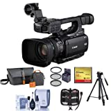Canon XF-100 High Definition Professional Camcorder, - Bundle With Video Bag. 32GB Compact Flash Card, Tripod, 58mm Filter Kit, Cleaning Kit, Memory Wallet,