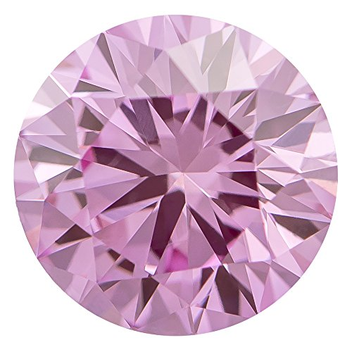 1.00 Ct. | Round | Crocus Pink Color | VS2 Clarity | U.S. Man Made Diamond