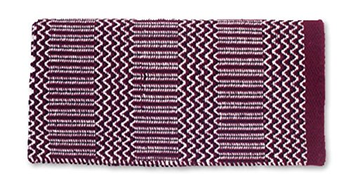 Burgundy Black Cream 32 x 64-Inch Burgundy Black Cream 32 x 64-Inch Mayatex Ramrod Doubleweave Saddle Blanket