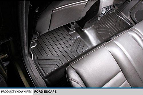 MAXFLOORMAT Floor Mats 2 Row Set Black for 2013-2018 Ford Escape / 2013-2017 C-Max