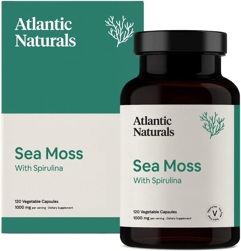 Organic Sea Moss with Spirulina Capsules | Vegan 1000mg: Health & Personal Care