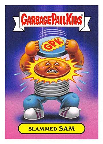 2019 Topps Garbage Pail Kids We Hate the '90s Toys Sticker #7b SLAMMED SAM Sticker Trading Card