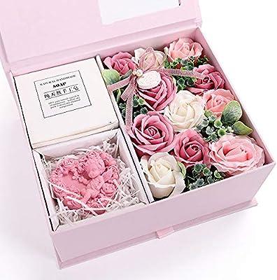 Amazon.com: QJJML – Jabón de rosa para el día de San ...
