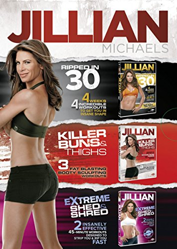 Jillian Michaels Triple DVD Boxed Set (Feat. Ripped in 30, Killer Buns and...
