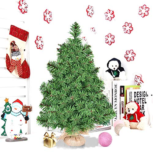 Artificial Christmas Tree. This Tabletop Fake Xmas Spruce Tree 2 ft. Looks Real, Natural. Great for Indoor, Outdoor, Home, Patio, Gazebo, Backyard, Front Porch, Deck Holiday Season Party Decor