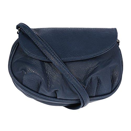Bags material sintético Bolso azul de mujer para oscuro al New hombro dBOwqdX