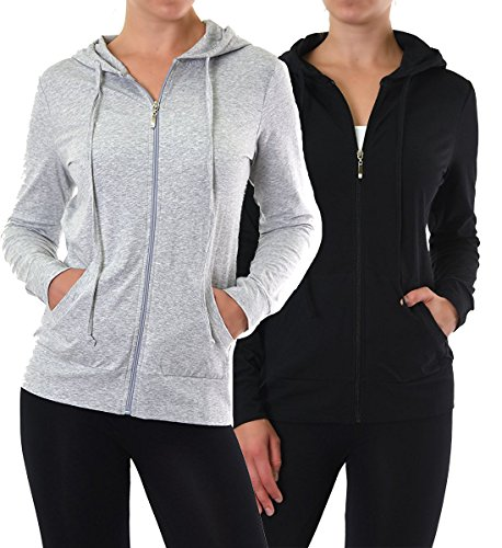 Sofra Womens Pullover Hoodie Lightweight