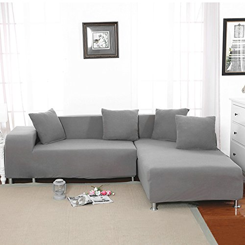 Littlegrass Stretch Sectional Sofa Slipcover L Shape