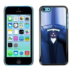 TaiTech / Prima Delgada SLIM Casa Carcasa Funda Case Bandera Cover Armor Shell PC / Aliminium - Espada Equipo deportivo - iPhone 5C