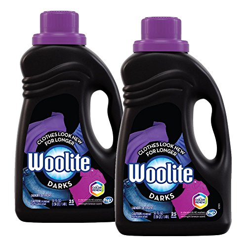 Woolite DARKS Liquid Laundry Detergent, 100oz (2X50oz), With Color Renew, HE & Regular Washers